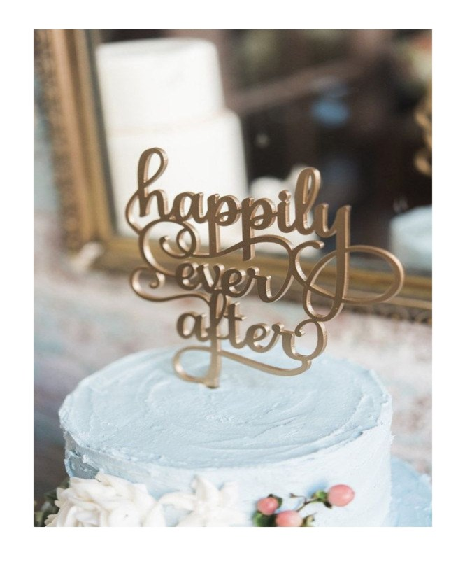 Antique Jewelry Cake topper