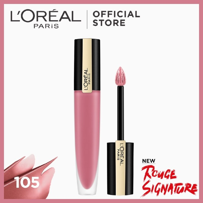 L'Oreal Paris Rouge Signature Baked Nudes now at Shopee