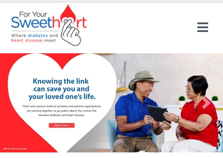 'For Your SweetHeart' campaign heightens awareness on diabetes-heart disease link, cautions patients amid a pandemic
