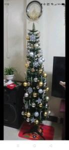 Slim Christmas Tree Christmas Decorations