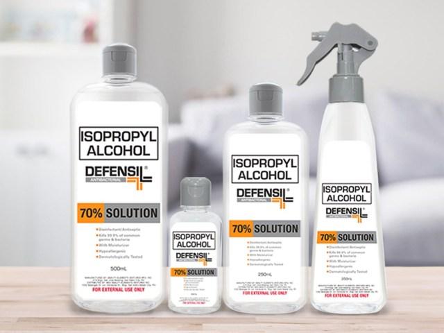 Defensil Isoprophyl Alcohol