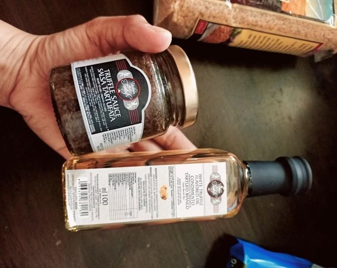 Truffle oil and truffle sauce
