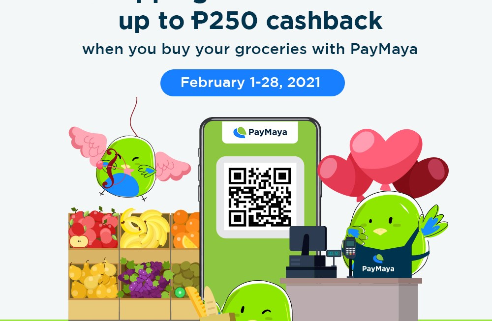 Get up to P250 in cashback when you #ScanToPay via PayMaya QR at your go-to supermarkets