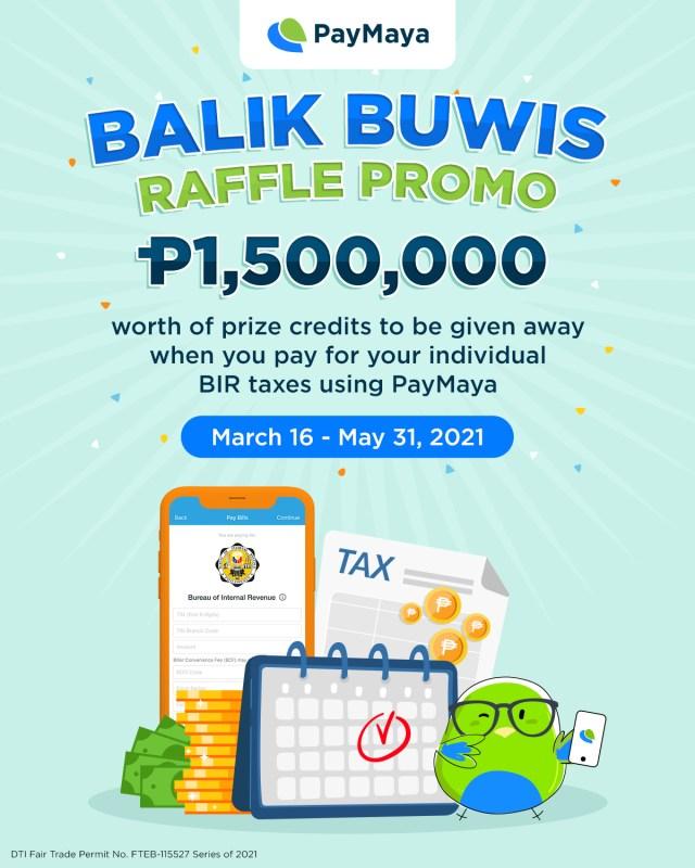 Balik Buwis Raffle Promo Paymaya