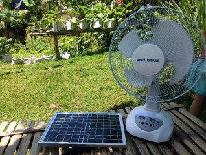 Solar power electric fan