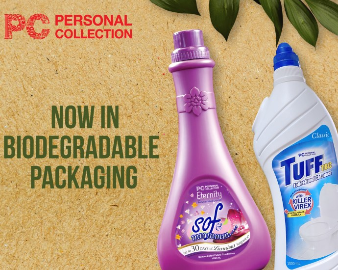 biodegradable paclaged toilet bowl cleaner and fabcon