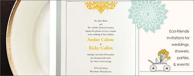 Environmentally Friendly Invitations For Weddings Parties