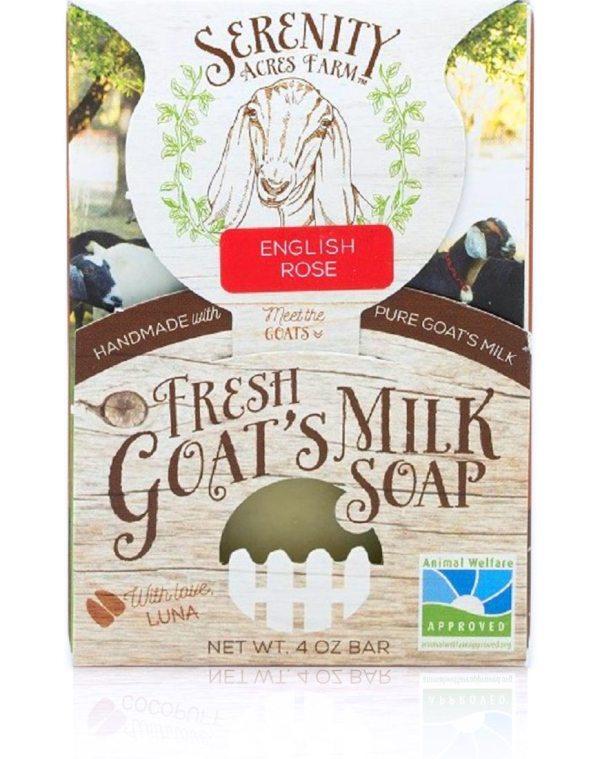 English Rose Goats Milk Soap