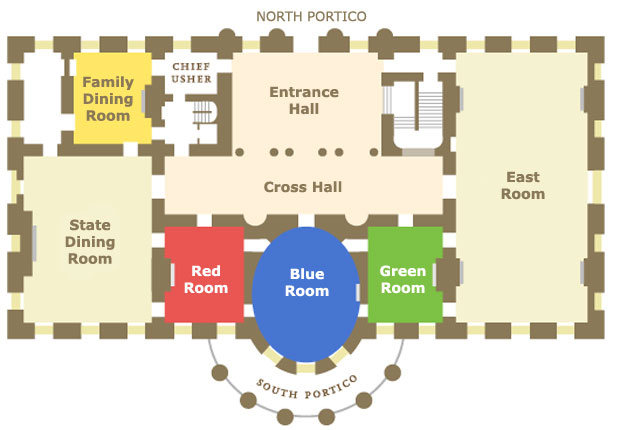 Layout White House Oval Office