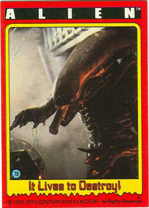 Alien Collectible Trading Cards From 1979 Earthly Mission