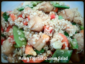 Asian Toasted Quinoa Salad