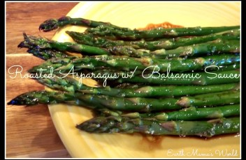 Roasted Asparagus w/ Balsamic Soy Sauce