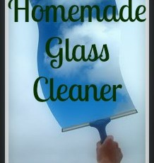 Homemade Glass Cleaner