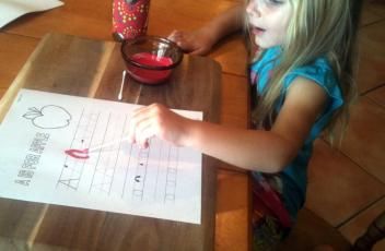 Painting Letters With Q Tips - Earth Mamas World