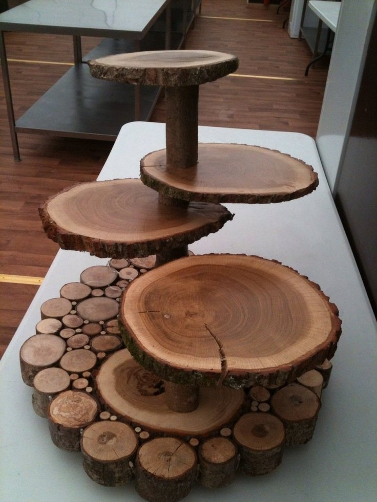 Wooden Wedding Cake Stands  Wedding and Bridal Inspiration