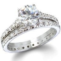 Cheap CZ Sterling Silver Wedding Ring Sets - Wedding and ...