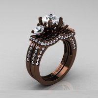 Chocolate Gold Wedding Rings - Wedding and Bridal Inspiration
