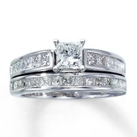Princess Cut Diamond Wedding Ring Sets