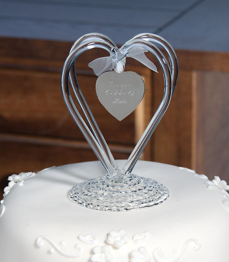 Glass Wedding Cake Toppers  Wedding and Bridal Inspiration