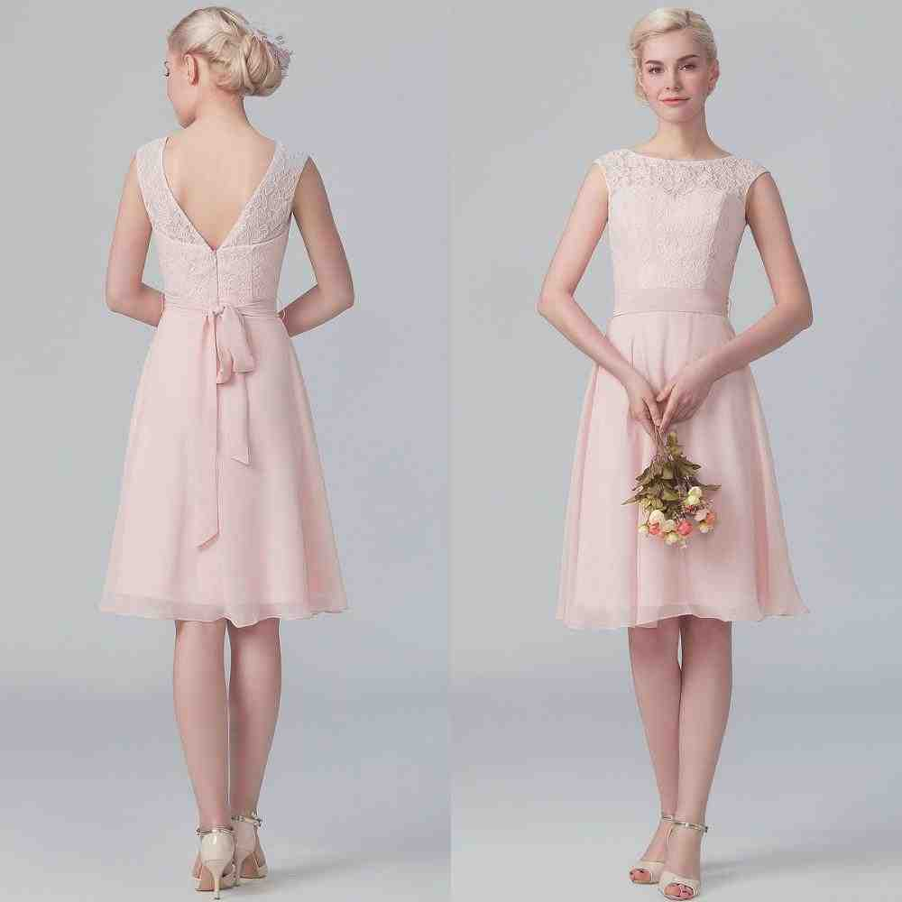 Short Blush Bridesmaids Dresses