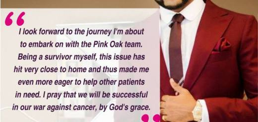Nigerian R&B Artiste Banky W. Joins Pink Oak Campaign to Fight Cancer