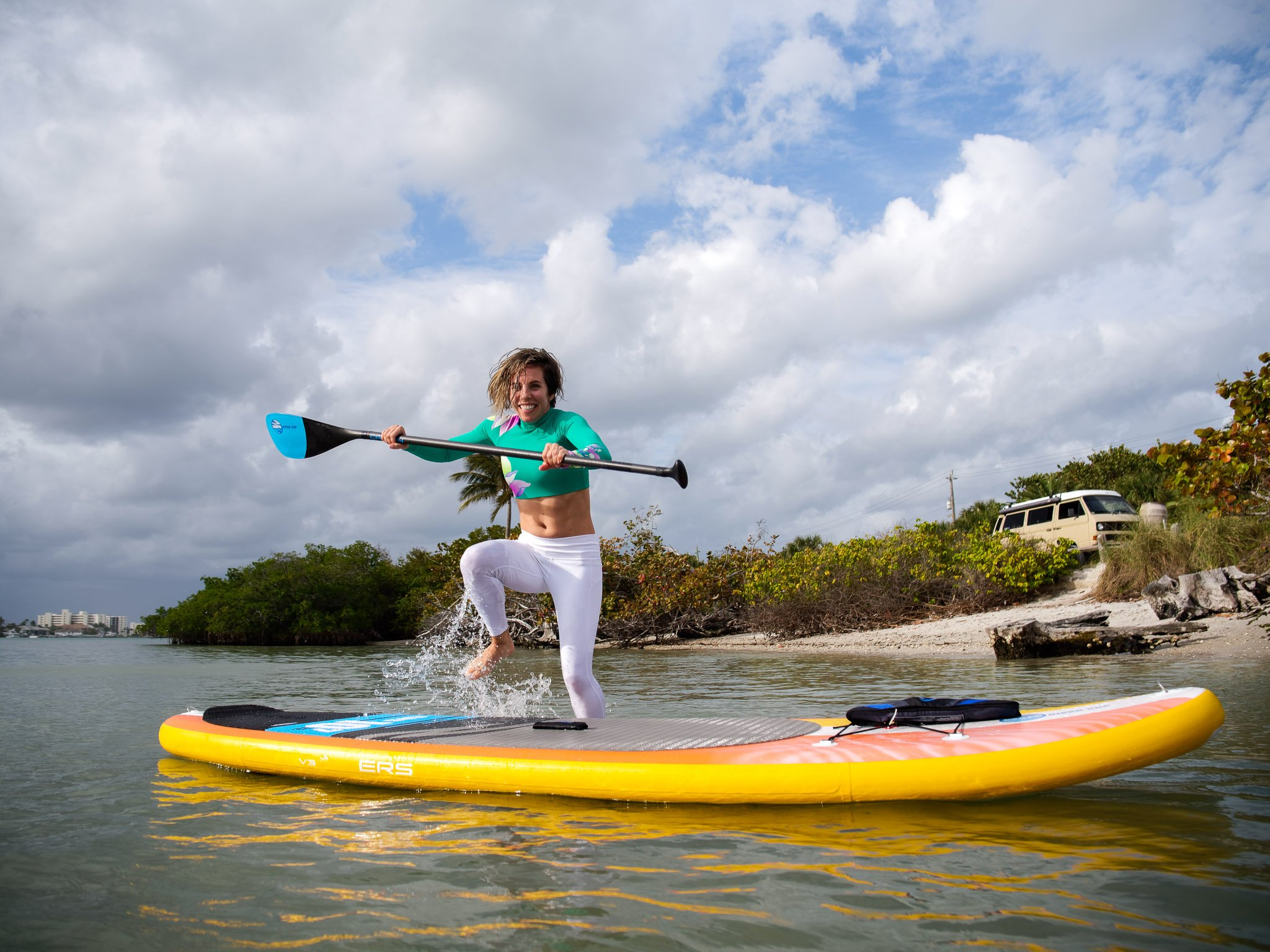 ERS Rider Cole jumping on a Paddleboarders