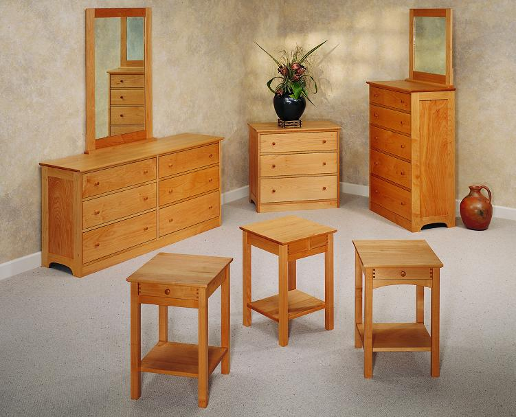 pacific cherry wood dressers
