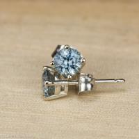 Heated Montana Sapphire Earrings, 3.5-5.5 mm  Earth's ...