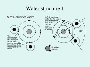 Structure of water