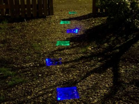 Solar Powered, Lighted Walkway
