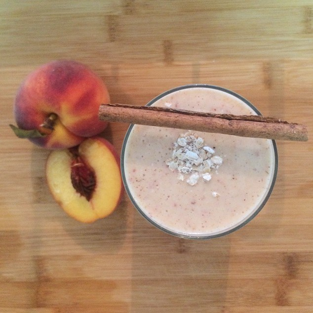 Low Fat, Peach & Cinnamon Smoothie