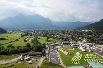 View over Garmisch-Partenkirchen