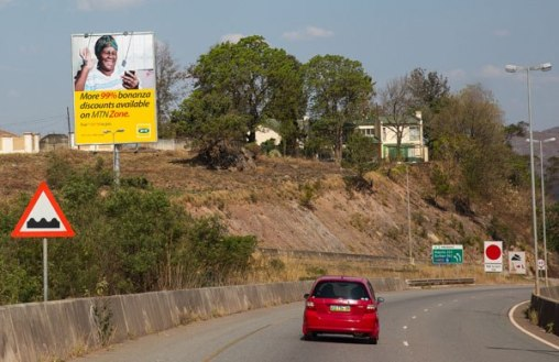 Road sign in Swaziland