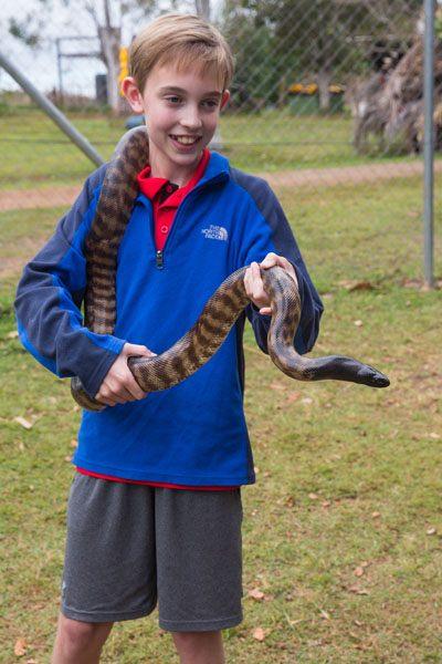 Tyler Rivenbark and a Snake