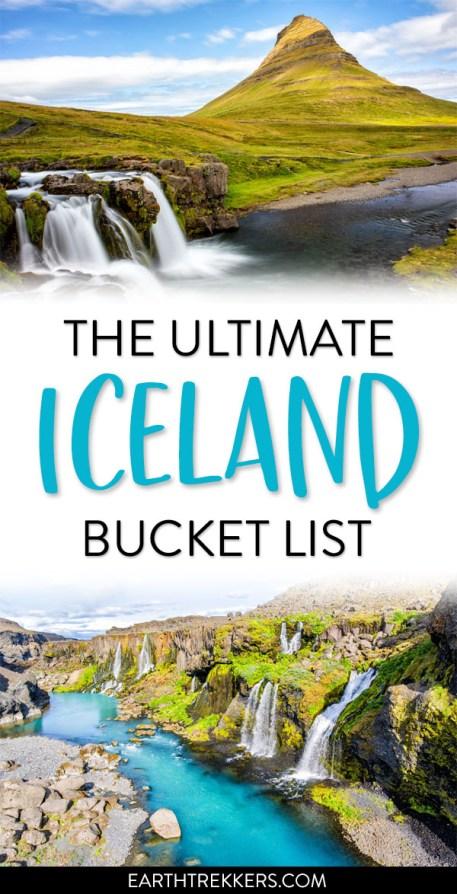 Iceland Bucket List