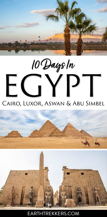 Egypt Itinerary with Cairo Luxor Aswan