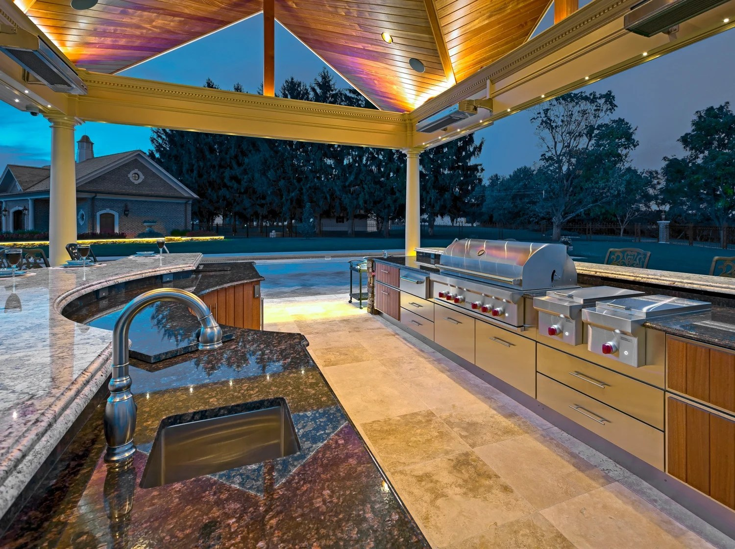 outdoor kitchen cost small islands with seating how much does an prices to expect in lancaster reading york hershey or