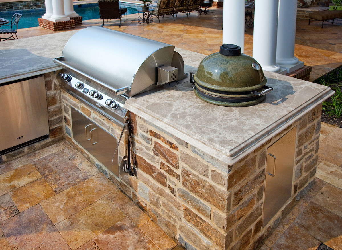 outdoor kitchen cost splash guard how much does an prices to expect in lancaster reading york hershey or