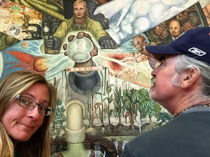 mexico city travel guide: diego rivera painting 'man controller of the universe'