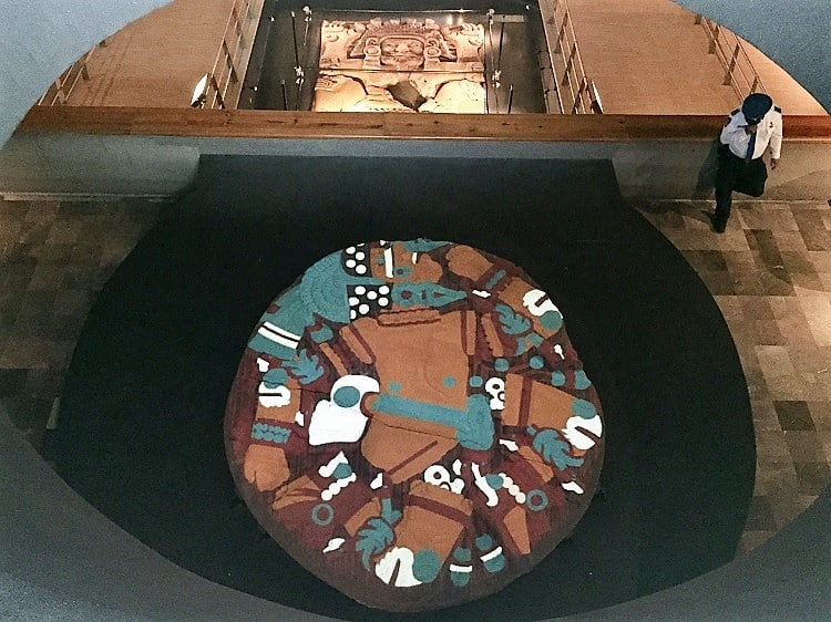 mexico city travel guide: templo mayor museum rendition of what it used to look like