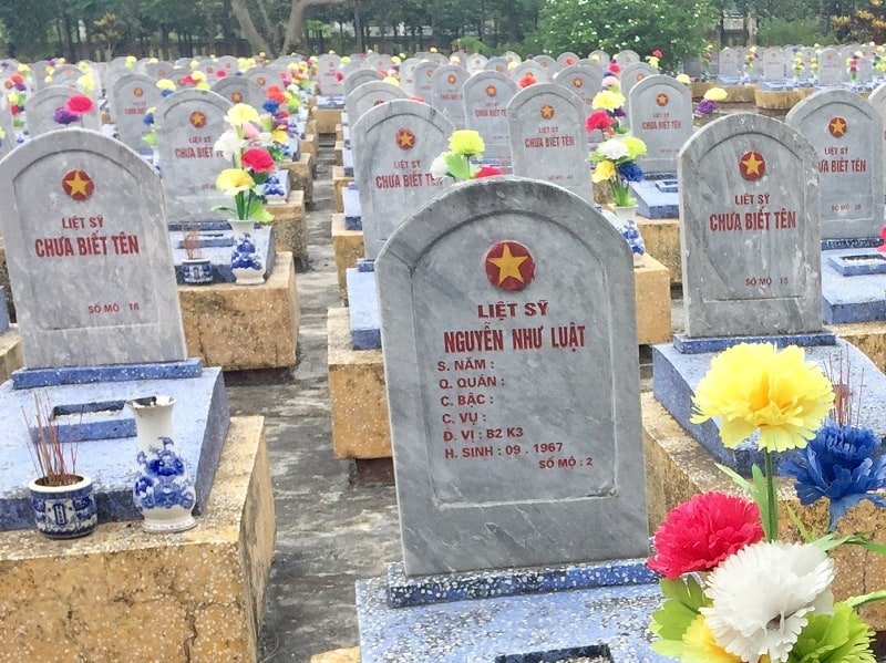 a graveyard was part of a personalized DMZ tour in central Vietnam