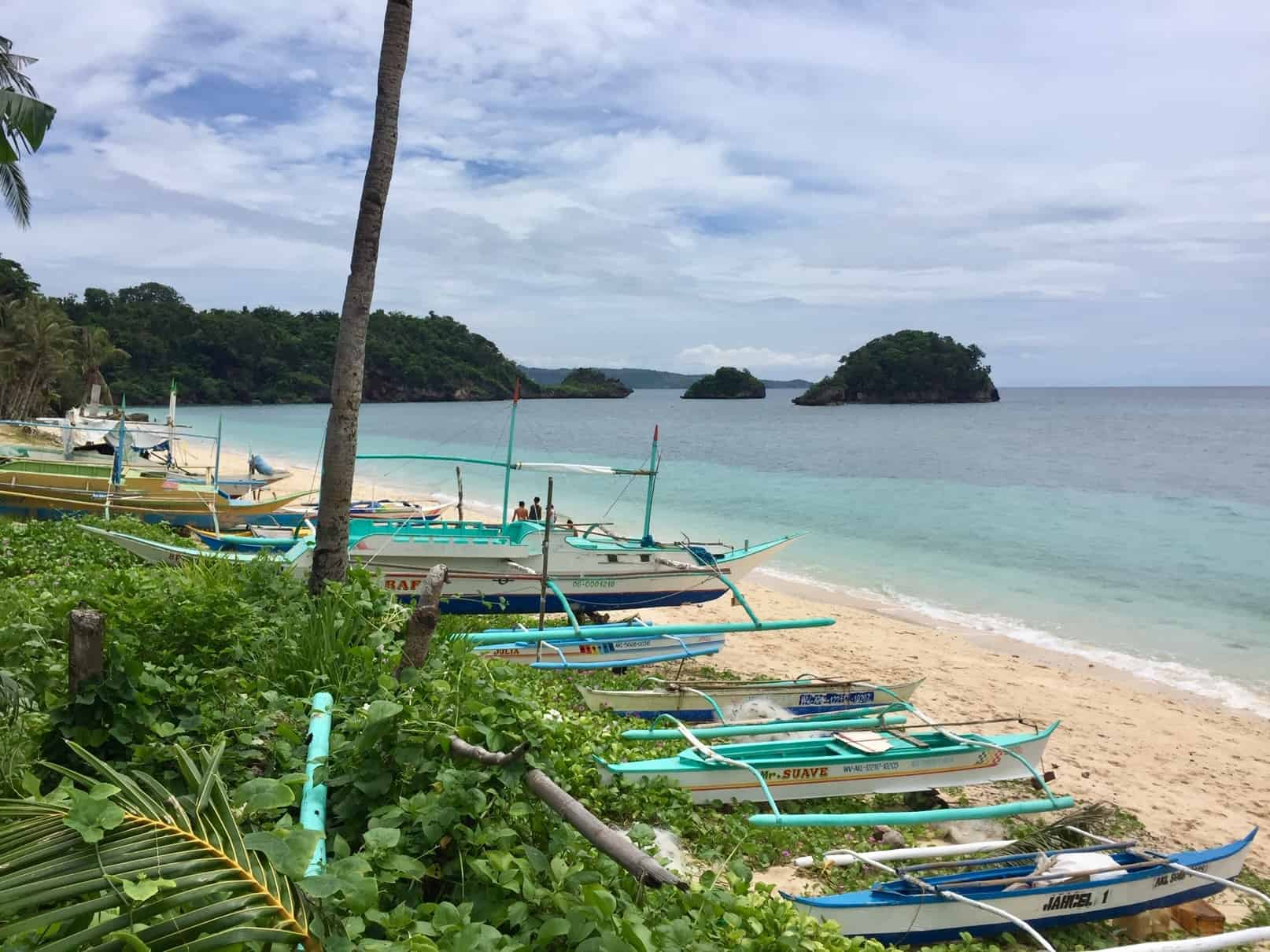 We explored new beaches like we did during the good old days of travel. This one is Ilig Iligan on Boracay Island in the Philippines.