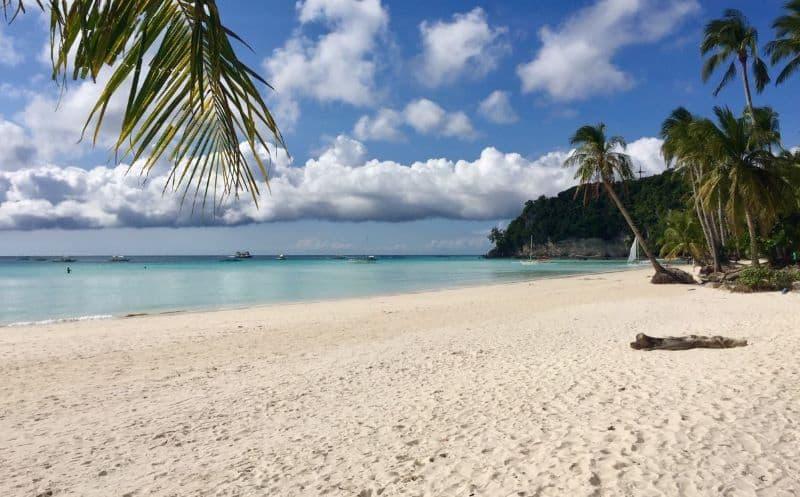 White Beach on Boracay Island in the Philippines.