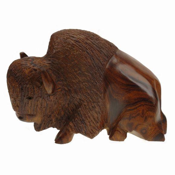 Western Wood Carving Bison