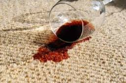 carpet stained by wine