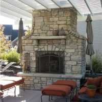 Backyard Stone Fireplace - talentneeds.com