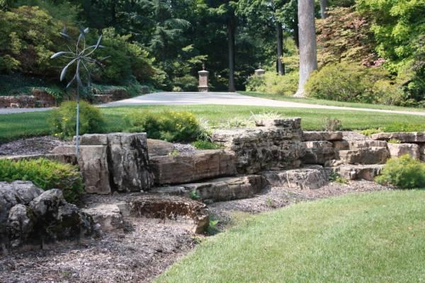 weathered limestone boulders