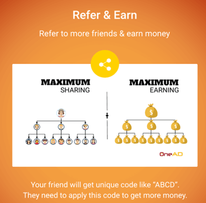 Onead refer and earn