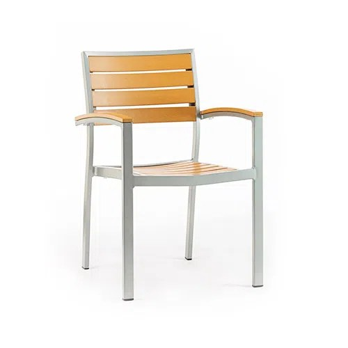 outdoor restaurant chairs sling back patio target stacking aluminum furniture application