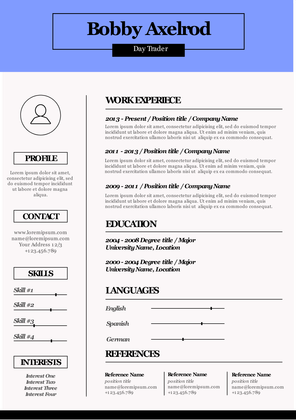 infographic resume html template